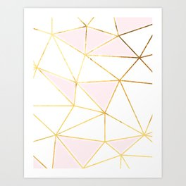 TRIANGLE GOLD-WHITE Art Print