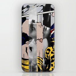 "Roy Lichtenstein's ""In the car"" & Marcello Mastroianni with Anita Ekberg in La Dolce Vita iPhone Skin"