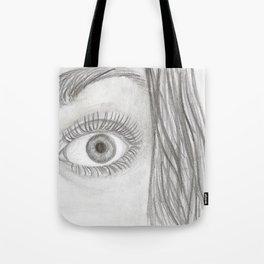 Black & White Eye Sketch Tote Bag
