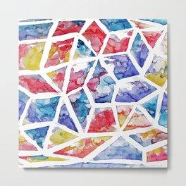 Kaleidoscope Watercolor Metal Print