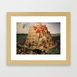 The Tower of Babel by Pieter Bruegel the Elder Framed Art Print