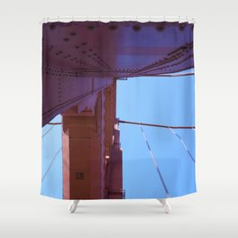 Looking Up, Walking the Golden Gate Shower Curtain