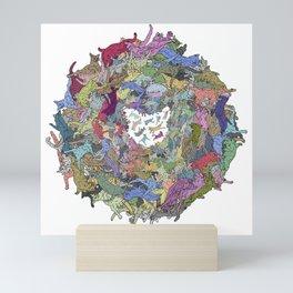 Cats Donut Galaxy - Rainbow Earth Mini Art Print