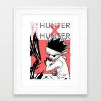 hunter x hunter Framed Art Prints featuring Hunter X Hunter - Print by monogataris