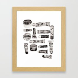 Lipbalm Collection Framed Art Print