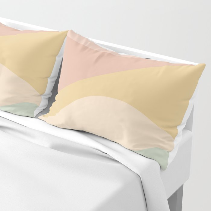 Abstract Color Waves - Neutral Pastel Pillow Sham