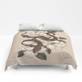 Snake and Magnolias Comforters