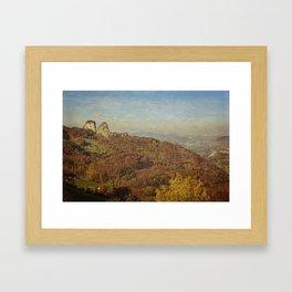 Twin rocks Framed Art Print