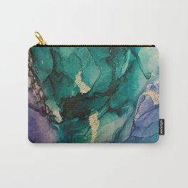 Dancing Fish- Abstract Painting, Alcohol ink, Colorful painting Carry-All Pouch