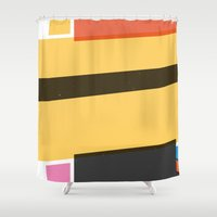 cycling Shower Curtains featuring SECRET CYCLING FLAG - MERCKX by ahutchabove