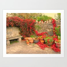 The Terracotta Garden. Art Print