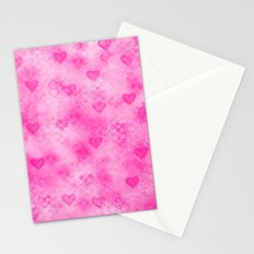 Pink Hearted Stationery Cards