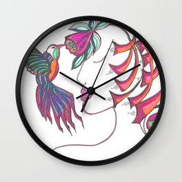 Hummingbird Girl Wall Clock