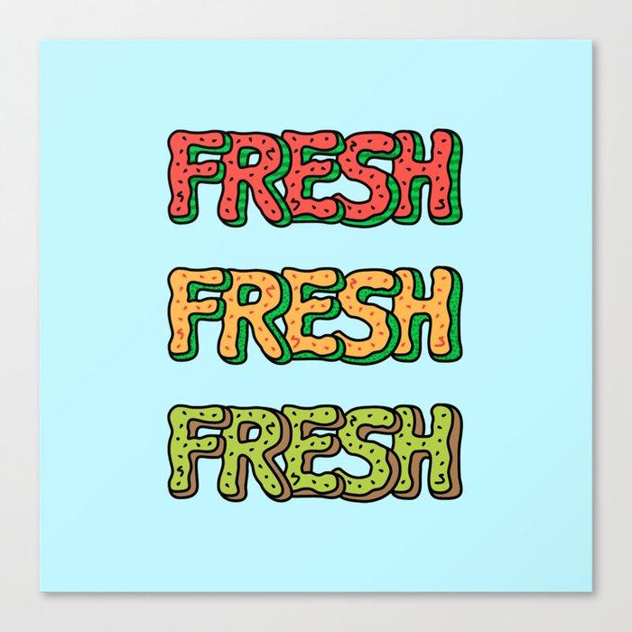 Fresh Watermelon, Cantaloupe Melon, Kiwi Canvas Print