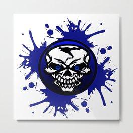 Blue skull logo Metal Print