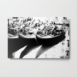 Gondole (Monochrome) Metal Print