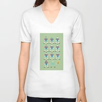 barcelona V-neck T-shirts featuring barcelona by skip ad