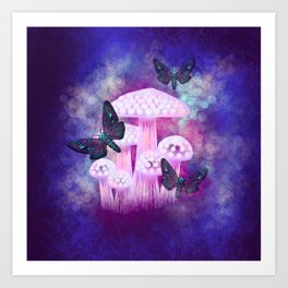 Twilight Moths Art Print