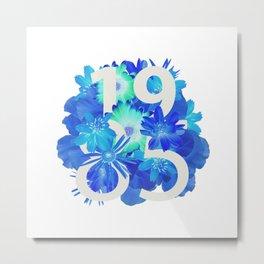 Blue Flower 1985 Metal Print