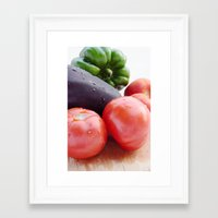vegetables Framed Art Prints featuring Vegetables by Carlo Toffolo