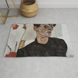 Egon Schiele , self-portrait Rug
