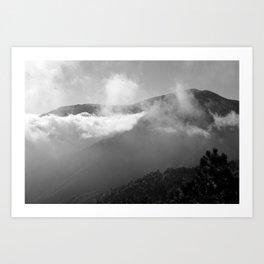 Cloudy Mountains Art Print