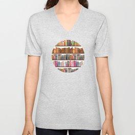Jane Austen Vintage Book collection Unisex V-Neck