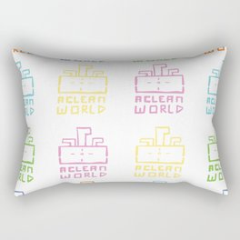 A Clean World Rectangular Pillow