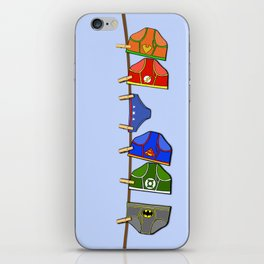 Laundry Day at the Hall of Justice iPhone Skin