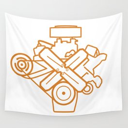 273 Commando - Engine Outline Wall Tapestry