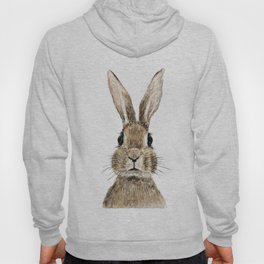 cute innocent rabbit Hoody