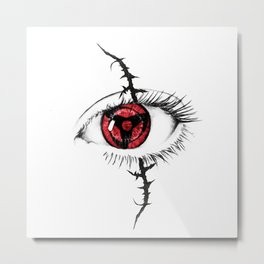 Sharingan Eyes Metal Print