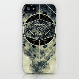 Sacred Geometry for your daily life -  SATURN EYE iPhone Case