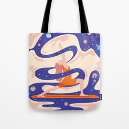 Сosmic yoga Tote Bag