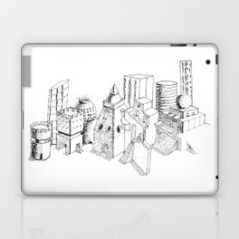 cubes and balls in the city . Art Laptop & iPad Skin