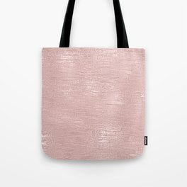 Metallic Rose Gold Blush Tote Bag
