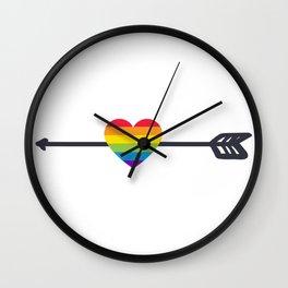 LGTBQ Love Arrow Wall Clock