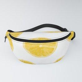 Fresh lemons background Fanny Pack