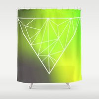 triangle Shower Curtains featuring Triangle* by Mr & Mrs Quirynen