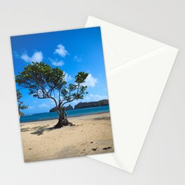 Tree on a beach Stationery Cards