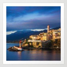 Sunrise in Bastia Art Print