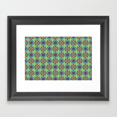 Retro Modern Flower Power Framed Art Print