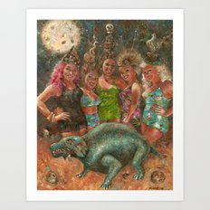Martin Denny Excavation Party Art Print