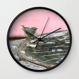 Kinglet at the Basin Rim Wall Clock
