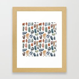 Sea stones Framed Art Print