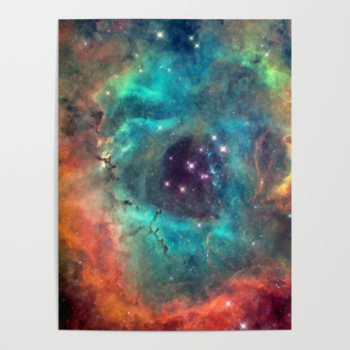 Colorful Nebula Galaxy Poster