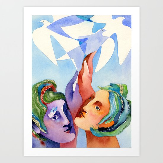 Shared dream Art Print