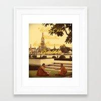 buddah Framed Art Prints featuring BUDDAH by M.KATZ DESIGNS