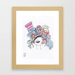 365 cabelos - sewing Framed Art Print
