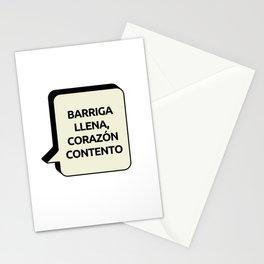 Barriga llena, Corazón contento Stationery Cards
